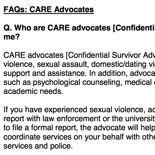 Care Advocates FAQ